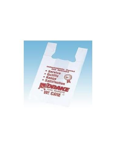 bolsa camiseta blanca biodegradable, Impresa medida 30 x 40
