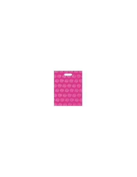 Bolsa Asa Troquel Impresa en Color Rosa de 40 x 50 cms