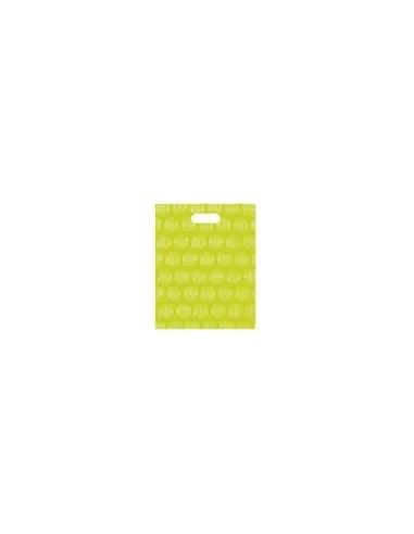 Bolsa Asa Troquel Impresa en Color verde de 18 x 30 cms