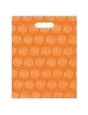 Bolsa Asa Troquel Impresa en Color Naranja de 40 x 50 cms
