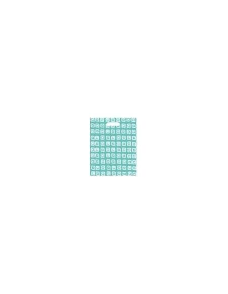 Bolsa Asa Troquel Impresa en Color Azul de 18 x 30 cms