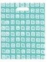 Bolsa Asa Troquel Impresa en Color Azul de 30 x 40 cms