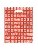 Bolsa Asa Troquel Impresa en Color Rojo de 18 x 30 cms