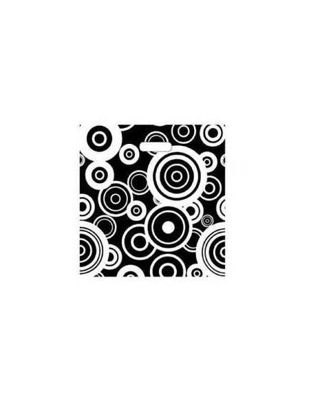 Bolsa Asa Troquel Impresa en Color Negro de 18 x 30 cms