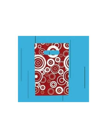 Bolsa Asa Troquel Impresa en Color Granate de 18 x 30 cms