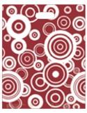 Bolsa Asa Troquel Impresa en Color Granate de 30 x 40 cms