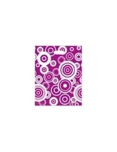 Bolsa Asa Troquel Impresa en Color Lila de 18 x 30 cms