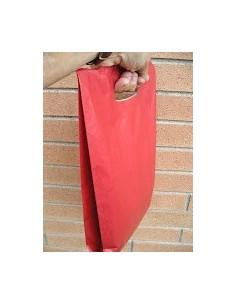 Bolsa de Papel Asa Troquelada Color Rojo 31 + 8 x 42