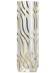 Bolsa Serpentina Dorada Metalizada 14 x 30,5 Cms