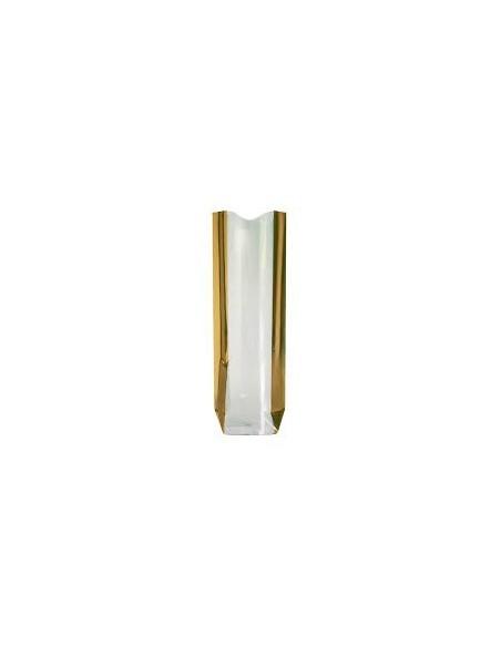 Sac métallisé Lingot d'or 12 x 27,5 Cms