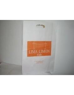 Bolsa de Papel Asa Troquelada Blanca 18 + 6 x 32 Personalizada